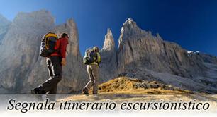 segnala itinerario escursionistico